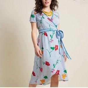 Modcloth Floral  Wrap Dress